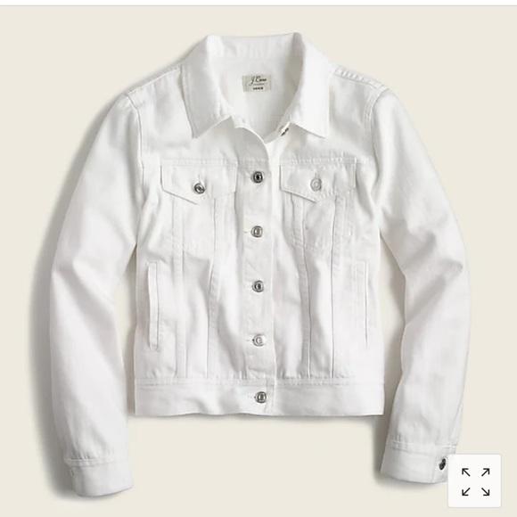 White denim jacket J-crew